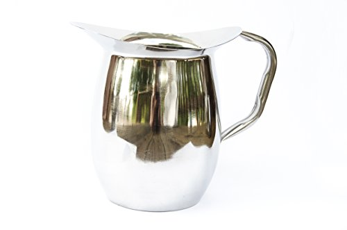 Stainless Steel Beverage Pitcher, 3 Qt Bell Style
