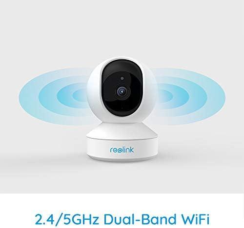 Detecci/ón de Movimiento IP C/ámara para Hogar Seguridad E1 Pro 2.4GHz//5GHz WiFi Audio Bidireccional Reolink 4MP C/ámara de Vigilancia WiFi Inteligente Giratorio Inclinaci/ón