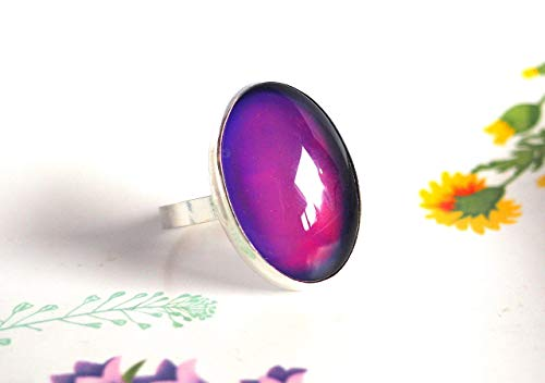 Cocktail Mood Ring in Sterling Silver
