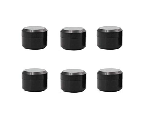 6PCS 10ml/0.34oz Black Empty Refillable Double layer Plasticr Cream Jars Bottles Cosmetic Container Pot Storage Case for Cream Lip Balm Ointments Eye Shadow