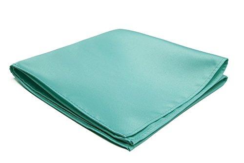 Jacob Alexander Men's Pocket Square Solid Color Handkerchief - Aqua