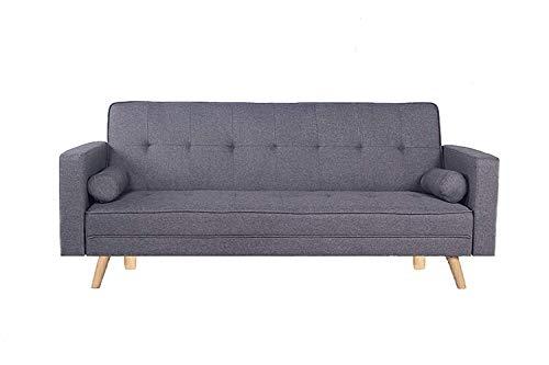 HOGAR24 ES Sofa Cama 846 3 Plazas Sistema Apertura Clic-Clac, Color Gris Medidas 206x75x89 cm