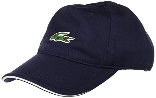 Lacoste Mens Golf Front Croc Poly Cap, Navy Blue/White, S/M