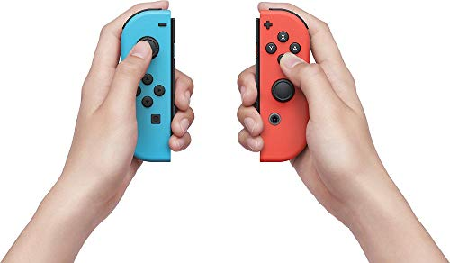 Nintendo Switch 32GB Console Video Games w/ 32GB Memory Card   Neon Red/Neon Blue Joy-Con   1080p Resolution   802.11ac WiFi   HDMI   Surround Sound   IR Motion Camera