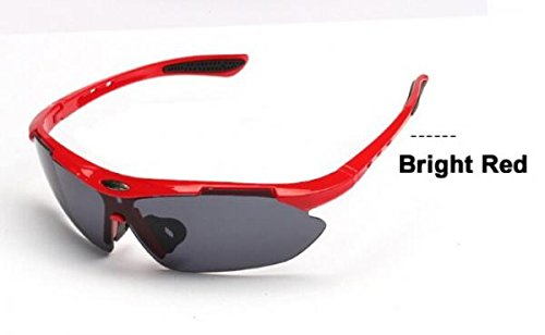 New Men Fashion Cycling Bicycle Road Mountain Bike Outdoor Sports Sun Glasses Eyewear Goggle Sunglasses UV400 (Red 2)
