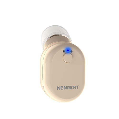 NENRENT S610 Bluetooth Earbud, Smallest Mini V4.1 Wireless Bluetooth Headset Eearpiece Headphone Earphone with Car Charger Mic Hands-Free Calls for Cellphone and More (Nude)