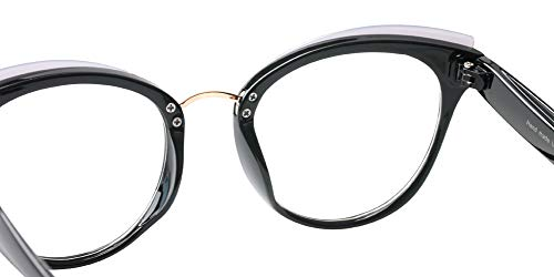 7eeb0cdc2082 SOOLALA Womens Designer Cat Eye Reading Glass Large Prescription Eyeglass  Frame
