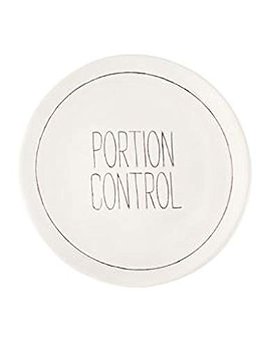 Mud Pie Bistro Appetizer Plate with De-bossed Sentiment, Portion Control