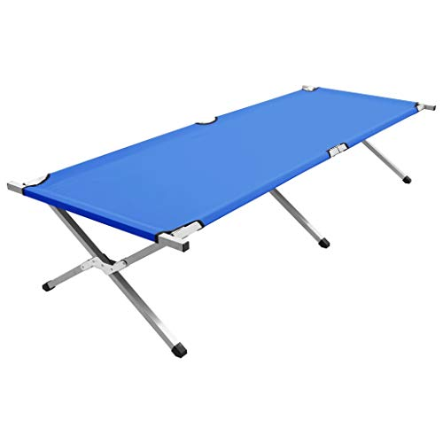 vidaXL Camping Bed Foldable Sunlounger Camping Chair Portable Tent Bed Comfortable Sleeping Cot Outdoor Furniture Bed