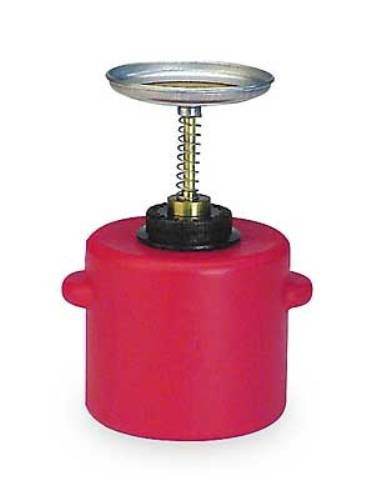 Eagle P-712 Plunger Polyethylene Safety Can, 2 Quart Capacity, Red