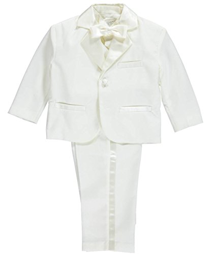 Kaifer Baby Boys' 5-Piece Tuxedo - off white, 18 months