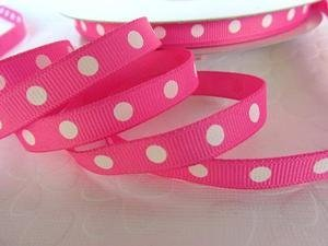 Roll of 50 yards Dippy Polka Dots Grosgrain 3/8