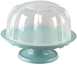 product image for Nordic Ware 1804 Bundt Cake Stand with Locking Dome Lid, Clear