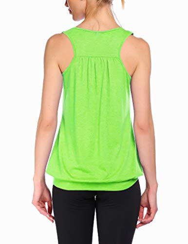 Beyove Womens Sleeveless Round Neck Racerback Yoga Workout Tank Top Loose Fit Athletic Tank Top