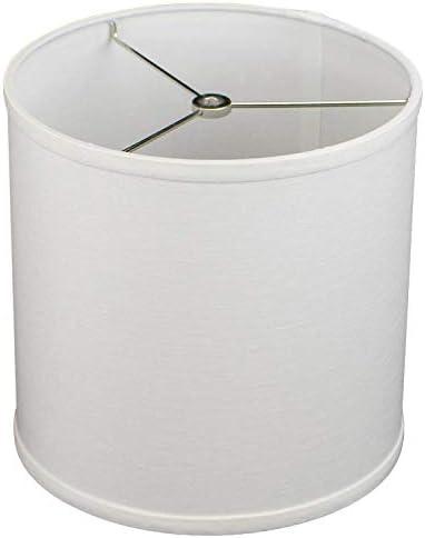 FenchelShades.com 10 Top Diameter x 10 Bottom Diameter 10 Height Cylinder Drum Lampshade Liner USA Made Designer Off White