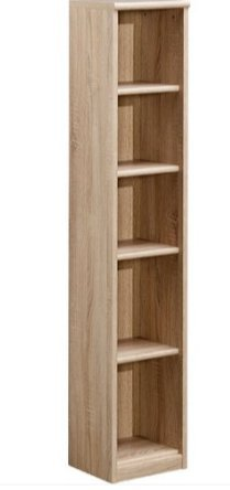 CS Schmal Soft Plus Bookcase With 5 Shelves Available In Oak
