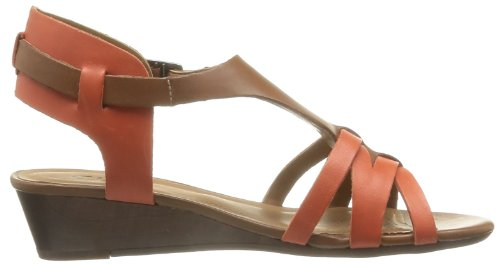 Clarks Playful Club 203589424 - Sandalias de cuero para mujer, color morado, talla 35.5 Morado (Violett (Tan Combi Lea))