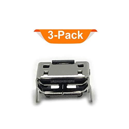 (DGSUS (3PACK) Replacement Micro USB Charging Port Female Type SMT Solder Soldering Jacks Connector Compatible with Marley Little Get Together Mini Bluetooth Speaker EM-JA013)