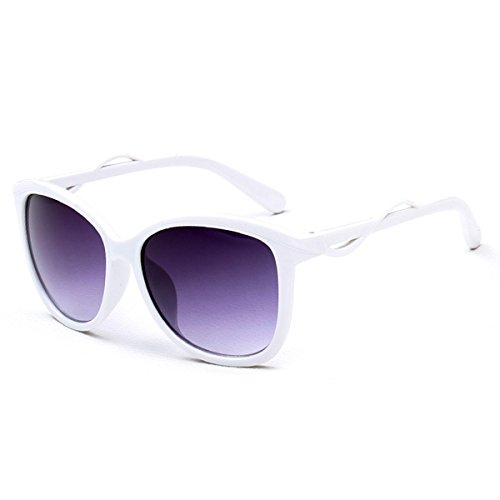 Blanco mujer para Godea Gafas de sol XqwxS4P