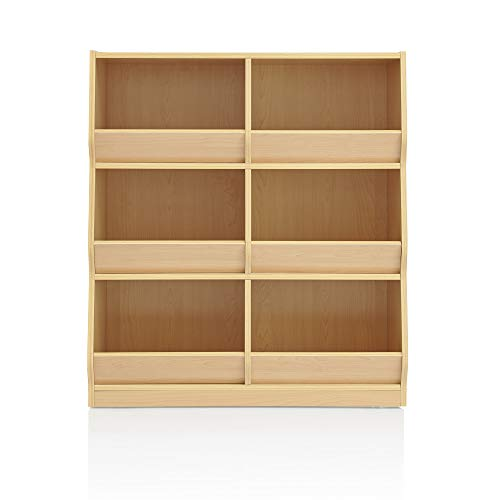 Guidecraft Children's Toy Bin Cubby Organizer - Wooden Storage Shelving Furniture Unit for Kid's Playroom, Classroom or Bedroom