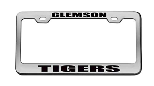 PANGERA Clemson Tigers License Plate Frame Car Tag Frame Auto License Plate Holder 12