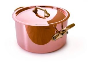 Mauviel Made In France M'Heritage Copper M150B 6505.28 8-Quart Stockpot with Lid, Bronze Handles by Mauviel