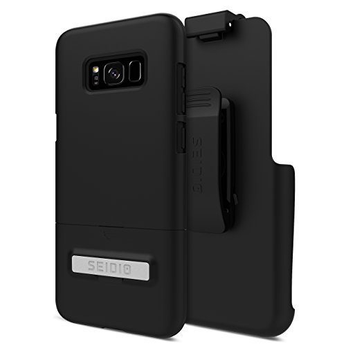 Seidio Surface Kickstand Combo Cell Phone Case + Holster for Samsung Galaxy S8 Plus ONLY - Black ()