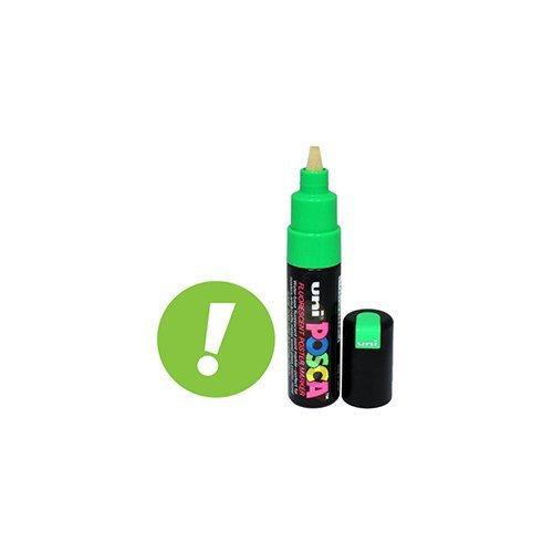 Sanford Uni-posca PC-85F Paint Marker Pen - Bold Point - Fluorescent Green (63833) by Sanford