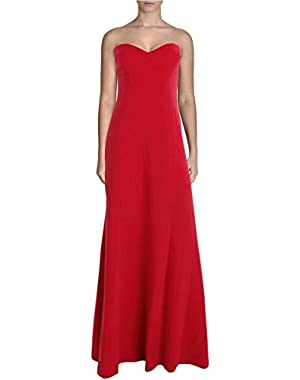 BCBG Max Azria Womens Surrey Strapless Prom Evening Dress