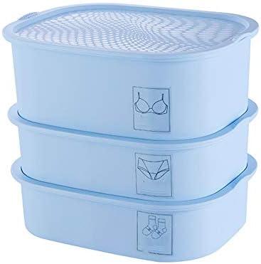 Caja De Almacenamiento De Ropa Interior Armario Plástico Caja De Almacenamiento De Ropa Interior Separación De Cajones 3 Piezas For Ropa Interior Joyas Pequeñas Joyas For Niños (Color : Blue) : Amazon.es: Hogar