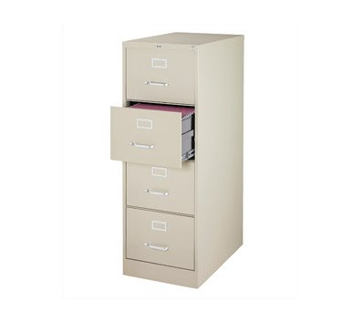 OfficeMax Four-Drawer Commercial Vertical File, 26-1/2