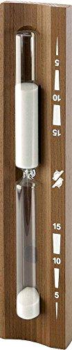 Goldspatz Sauna Sanduhr'Premium' Thermoholz dunkel, 15 Minuten, Sand weiß , Art.-Nr. 9102
