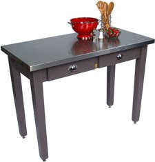 John Boos Cucina Milano Kitchen Island with Stainless Steel Top, 48