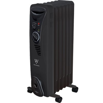 MIDEA AMERICA CORP/IMPORT HO-0218HB HO-0218HB WestPointe Radiator Heater, Black MIDEA AMERICA CORP/IMPORT Oil Filled Heaters