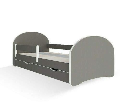 MEBLEX Kinderen Peuter Bed voor Kinderen Wit MET LADEN & Veiligheid Schuim Matras 140x70cm Kinderen Slapen Slaapkamer…
