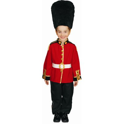 Children's Red & Black Royal Guard Complete Costume - Size Small (4-6)