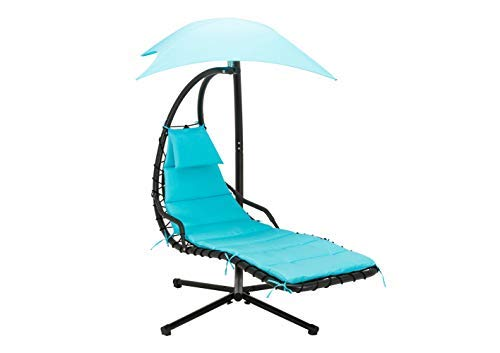 MCombo 6055-1000BL Hanging Chaise Lounger Arc Stand/Air Porch Patio...