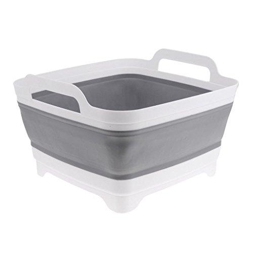 (Foldable Strainer Wash and Drain Dish Tub,Fruits Drainer Basket Vegetable Sink Colander Draining Basket)