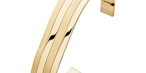 Ursul Bracelet manchette femme Embrace en argent 925 vermeil poli-brossé, 17.9g, Ø60mm
