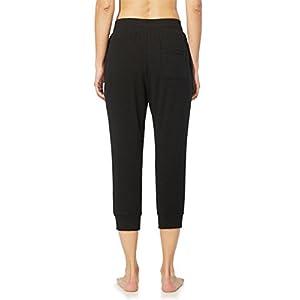 Baleaf Women's Active Yoga Lounge Jogger Capri Pocket Sweat Pants Black Size XL