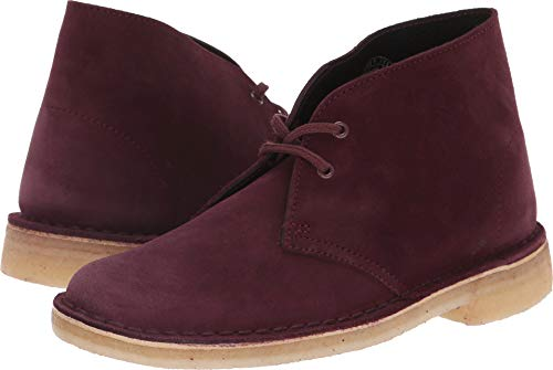CLARKS Women's Desert Boot Bordeaux Suede 10 B US B (M)