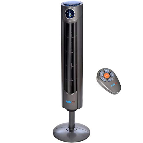 Arctic-Pro Digital Screen Oscillating Tower Fan with Remote