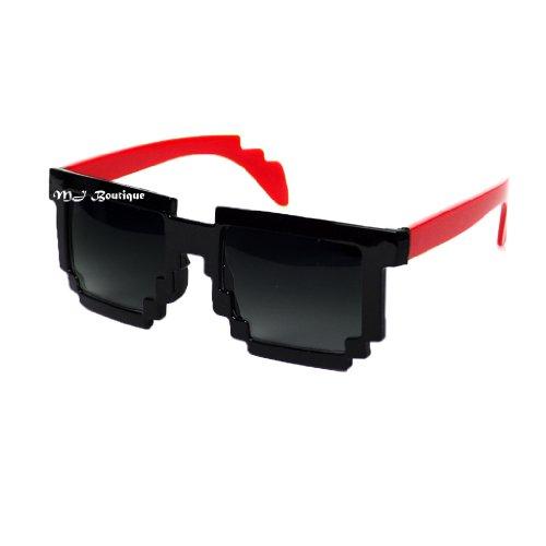 MJ Boutique's 8-Bit Pixel Black & Red Sunglasses Video Game FREE - Video Game Sunglasses