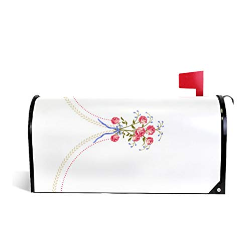 Mailbox Covers Standard Size Magnetic Mail Cover 18Th Century Embroided Petticoat Wraps Letter Post Box Cover 21