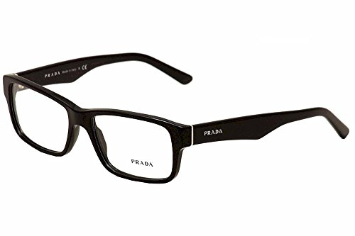 gloss black frame prada pr16mv eyeglasses
