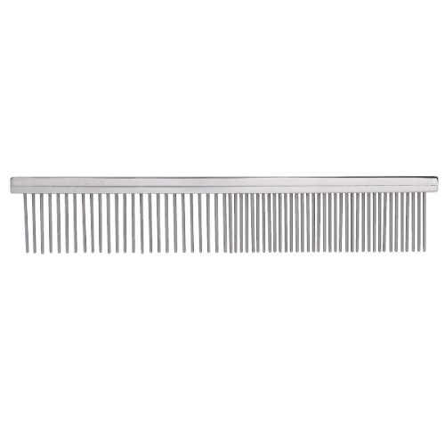 Master Grooming Tools Steel Teeth Pet Rotating Pin Comb, Medium and Coarse, 7-1/2-Inch, My Pet Supplies
