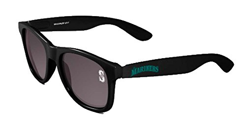 Maxx Sunglasses MLB Seattle Mariners Bleacher Black HD Grey Lens