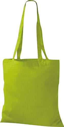 Algodón De Green Verde Con Asa Lime Bolsa Shirtinstyle fEwqFz8z