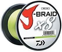 Daiwa J-Braid X8 0,20mm 16Kg 300m Chartreuse Geflochtene Schnur