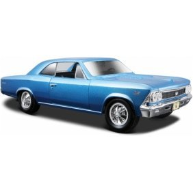 (Maisto Die Cast 1:24 Scale Metallic Blue 1966 Chevrolet Chevelle SS 396 (color may vary) diecast car model by Maisto)